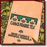 Bag of Camas Prairie Tea essiac blend signifying the Our Camas Prairie Tea page